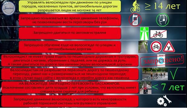 Видеоурок Велосипедист водитель транспортного средства  Велосипедист является водителем транспортного средства поэтому к нему предъявляются такие же требования как и к любому водителю